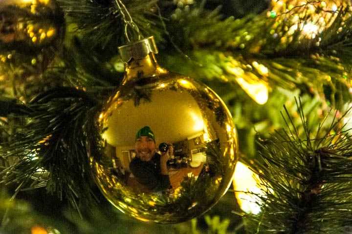 First self portrait in Christmas tree ornament.