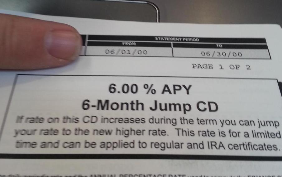 6% APY CD (2000)