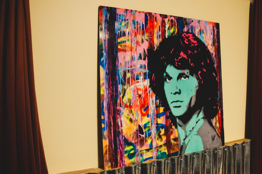 Jim Morrison portrait piece.